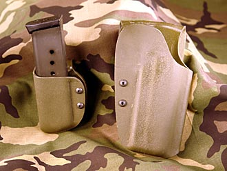 Kydex 1911 holster and mag pouch