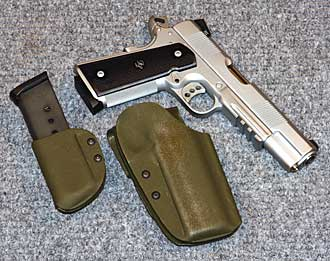Kydex 1911 holster and magazine pouch