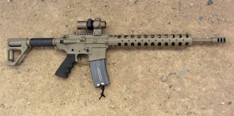 AR15 with collapsible stock