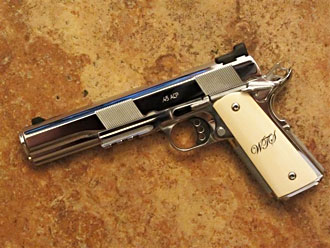 Custom 1911 Longslide with ivory grips