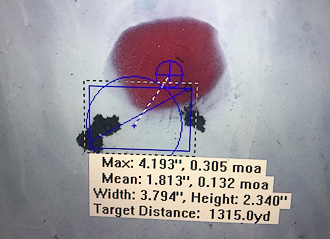 MR30PG accuracy at 1315 yards